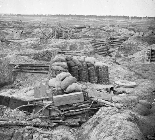 Civil War Fortifications Nfortifications During The Siege