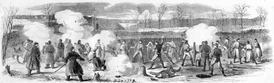 This Ilration From Harpers Weekly From March 17 1862 Is Captioned Position Of Taylor S And Mcallister S Batteries During The Battle At Fort Donelson