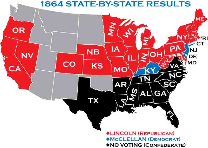 State results in 1864