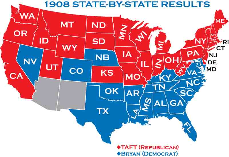 Presidential Elections - Map of us election results