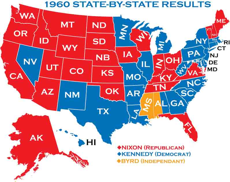 a retrospect on the us presidential election of 1960 Did jfk lose the popular vote  in retrospect),  and could make the difference in a close election this brings us, finally, to 1960.
